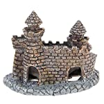 Rcool Home Aquarium Fish Tank Ornament Cartoon Resin Castle Tower Landscape Underwater Decoration(12 * 10 * 6 cm) 8