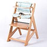 Babyhochstuhl Treppenhochstuhl Kinderhochstuhl Kindertreppenhochstuhl Hochstuhl - NATUR HC2533-D01 GRÜN