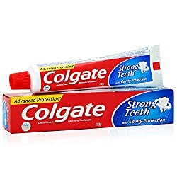 Colgate Toothpaste Strong Teeth Dental Cream - 100 g (Anti-cavity)