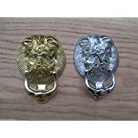 IRONMONGERY WORLD® SOLID BRASS TRADITIONAL SMALL VICTORIAN LION HEAD DOOR KNOCKER