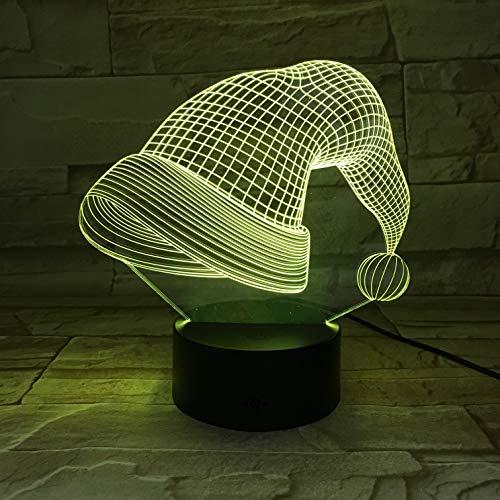 Weihnachtsmütze Form Touch tischlampe Farbwechsel tischlampe licht neuheit nachtlicht Lampe direkt