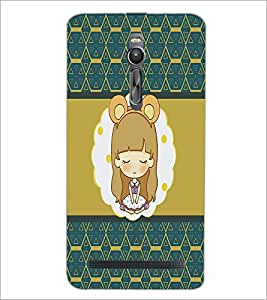 PrintDhaba Cartoon D-4319 Back Case Cover for ASUS ZENFONE 2 (Multi-Coloured)