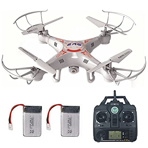 Remote Control Drone With 2.0MP HD Camera + Extra Battery, Mini Quadcopter Kit Support One Key Return Home 360 3D Flips RC Plane Helicopter UFO Remote Control Aeroplane Toy with LCD Screen Display For Beginners Indoor Outdoor Lamaston X5C-1 for Father Day Gifts