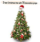 #6: TiedRibbons Christmas/xmas tree 3 feet with 70 Tree Hanging Ornaments | Christmas tree and decorations | Christmas tree for desk | xmas decoration items | xmas home decoration