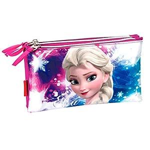Disney Frozen- Estuche portatodo Triple Plano,, 22 cm (Montichelvo 53781)