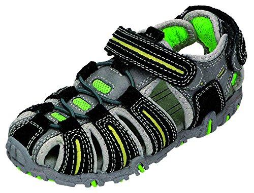 Greenies enfants sandales B. Velcro Sable. Gris - Noir/gris
