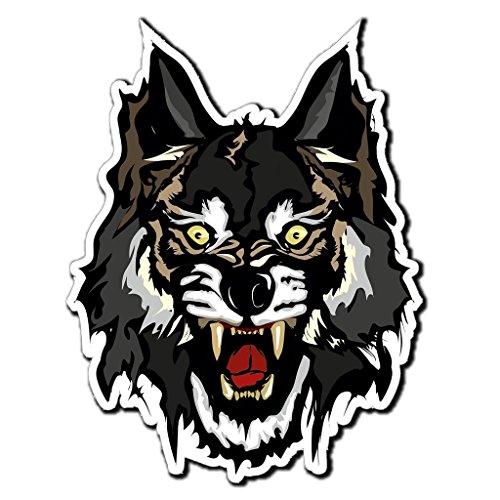 nd Wolf Zombie Übel Cool Vinyl SELBSTKLEBENDE STICKER Aufkleber Laptop reisen Gepäckwagen iPad Zeichen Spaß #4035 (Zombie Auto Zubehör)
