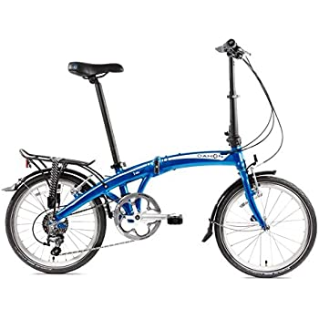 Dahon Mu D10 Bicicleta Plegable para Adulto, Dusty Blue, Talla 20