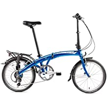 Dahon Mu D10 bicicleta plegable para adulto, Dusty Blue, talla 20