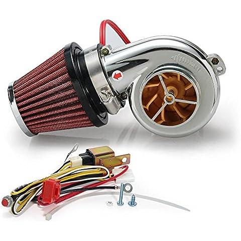 Mini elettrico turbo Supercharger Kit filtro aria di aspirazione per tutti i kit di auto, moto,
