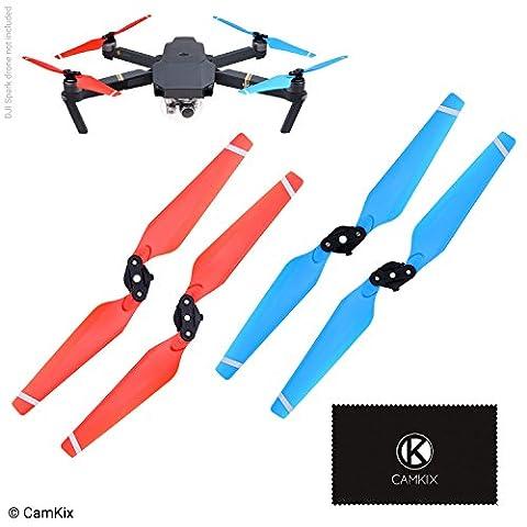 Propeller für DJI Mavic Pro - 1 Set (4 Rotorblätter) - Rot + Blau - Quick Release zusammenklappbare Flügel - Im Flug getestet - Unverzichtbares DJI Mavic Pro Zubehör - Exzellente Zuverlässigkeit und Reaktionsfähigkeit