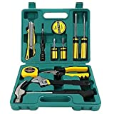 Tech Professional 12pcs Tools Set Basic Hand Carry Tool Box Kit Fix Repair Home Packaging