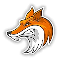 2 x Angry Fox Vinyl Stickers Travel Luggage #10500