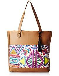 Kanvas Katha Vertical Tote Women's Tote Bag (Brown) (KKVTJ020)