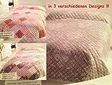 DRULINE 220 x 240 cm Tagesdecke Decke Übergröße Bettüberwurf Sofaüberwurf Ornament (Ornament Grau)