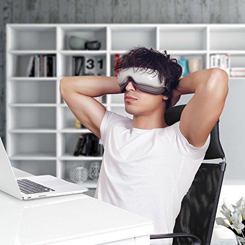 Naipo Breo MGE IS3 Masajeador de Ojos Recargable y Eléctrico de Presoterapia con Presión de Aire  Vibraciones y Calor para Aliviar la Fatiga Visual  Proteger la Vista