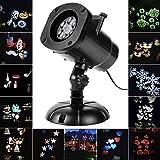 Salcar - Natale LED Proiettore Luci Ringraziamento con 12 Disegni, Dinamica/Statica 3 Gradini Velocità, Interno e Esterno IP65