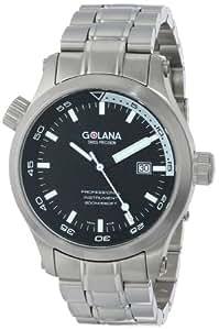 Golana - AQ100.2 - Aqua -Pro - Divers - Montre Homme Acier - Quartz Analogique - Lunette Plongée - Dateur - Cadran Noir et Blanc - Bracelet Acier