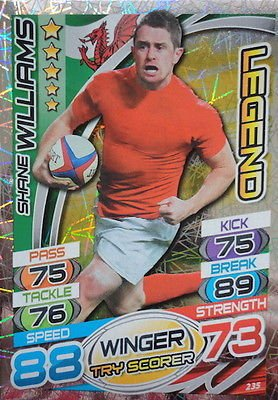 Topps Rugby Attax 2015 Shane Williams Winger Legend Trading Card