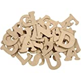 BUDILA® Holzbuchstaben-Set A-Z 4cm hoch MDF naturfarben