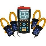 PCE Instruments Leistungsmessgerät PCE-360 für 1- und 3-Phasen / Leistungsmesser / Leistung / Leistungsmessgerät / Energiemessgerät (Echtzeit) mit Datenspeicher, PC-Schnittstelle und Software