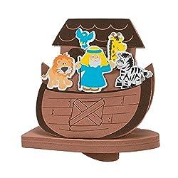 Elfen und Zwerge 6 x Arche Noah Moosgummi Bastelset DIY Kindergeburtstag Mitgebsel Tiere Schiff Sintflut Bibel Testament