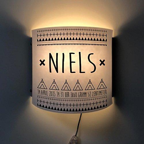 1-licht-post-lampe (Wandlampe Kinderlampe Nachtlicht Lampe Licht Nils)