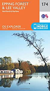 OS Explorer Map (174) Epping Forest & Lee Valley