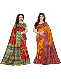 SAREE MALL Art Silk Saree With Blouse Piece(saree Combo Offers For Women SRJA028_031__Free Size)