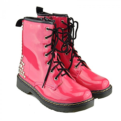 Kick scarpe da donna pizzo caviglia retro da bagagliaio da donna funky vintage fangbanger martin caviglia bagagliaio Rosa Quadrat Ohrstecker L-12084