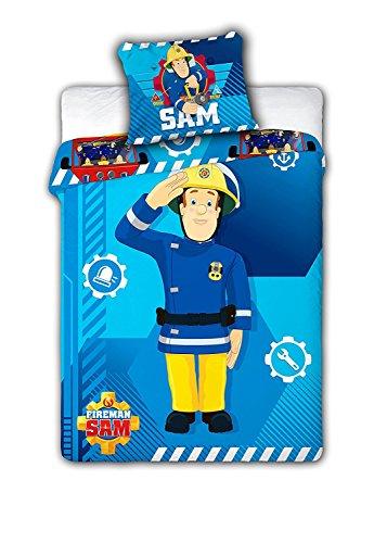 Feuerwehrmann Sam 008 Kinderbettwäsche Fireman Sam Babybettwäsche 100x135 cm + 40x60 cm