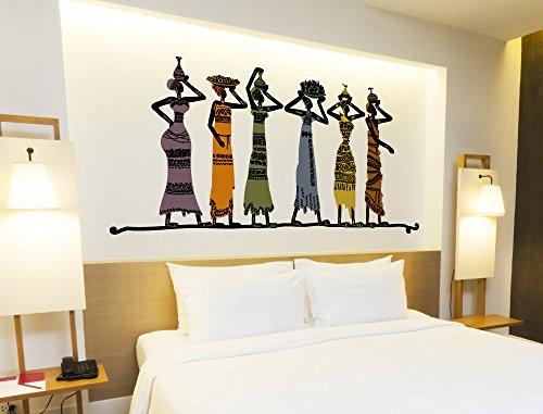 Frauen Figuren Afrikanische (I-love-Wandtattoo WAS-11096 Wohnraum Afrika Wandsticker