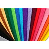 Pack Fieltro grueso 3mm.- 21 colores