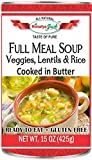 #1: Full Meal Soup (Veggies, Lentils, Rice)