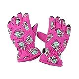 ivebetter Outdoor Kid Winter atmungsaktiv Pilz Skifahren Handschuhe (Rose Pink)