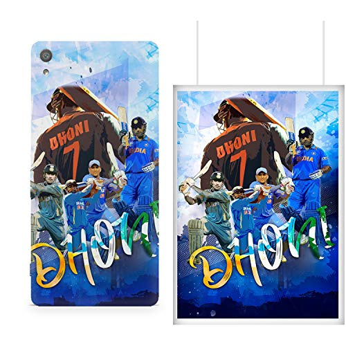 MOTIVATE BOX  1 Phone Cover and 1 Poster combo  Sony Xperia XA1 back cover and 12*18 inches rolled wall poster of M.S Dhoni collage design Poster and phone cover combo (frames are not included) Color S3CP564