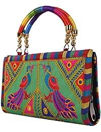 Craft Trade Handmade Designer Rajasthani Printed Clutch Bag For Women d8bc907c1f355