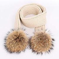 HAOLIEQUAN Moda Pompon Berretto in Maglia Berretto Sciarpa 2 Pezzi Set Inverno  Donna Spesso Berretto Morbido 7ed0a031a4a9