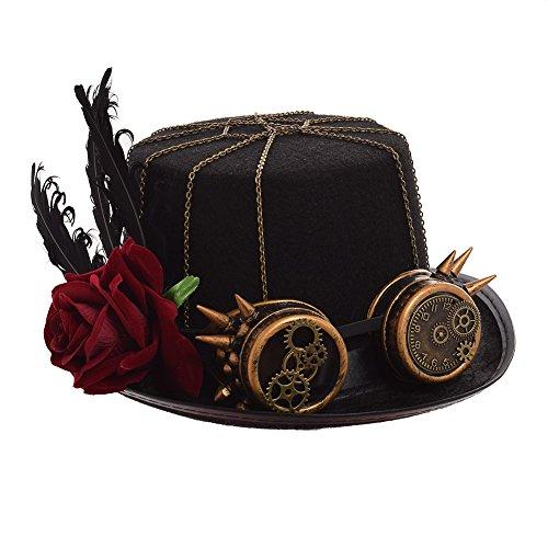 GRACEART Victoriano Steampunk Parte Superior Sombrero (Hombre)