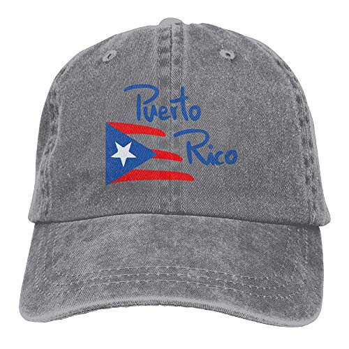 Men&Women Puerto Rico Classic Washed Dyed Cotton Solid Color Baseball Cap One Size (Puerto World Classic Hat Rico)