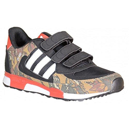 Adidas - Adidas ZX 850 CF K Kinder Sportschuhe Schwarz Leder und Textil M19743 Schwarz