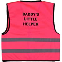 Unisex Kids High Visibility Vest Hi Vis Waistcoat With DADDY