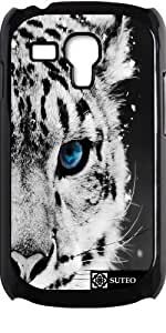Coque pour Samsung Galaxy S3 mini - Bébé Tigre Blanc Royal - ref 123