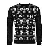 London Co. Marvel Punisher Black Unisex Christmas Knitted Jumper Small