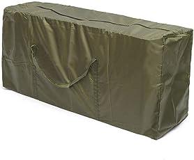 OOFIT Tragetasche für Auflagen anthrazit Polyestergewebe, Aufbewahrungstasche Kissen Gartenauflagen, wasserdicht, leicht, für den Außenbereich, Grün