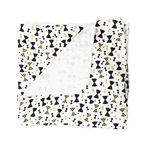 Miracle Baby Doux et Confortable Deux Couches Mousseline de Coton Couverture Pour Bébé Sommeil Profond , 120 x 120cm Poussette Couverture Pour bébés Unisexes