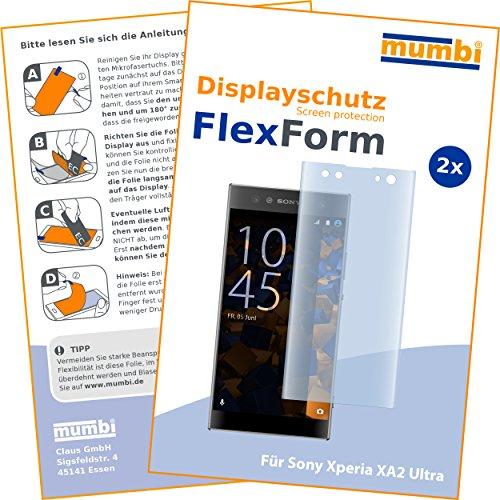 mumbi Flex Schutzfolie kompatibel mit Sony Xperia XA2 Ultra Folie, Bildschirmschutzfolie (2x)