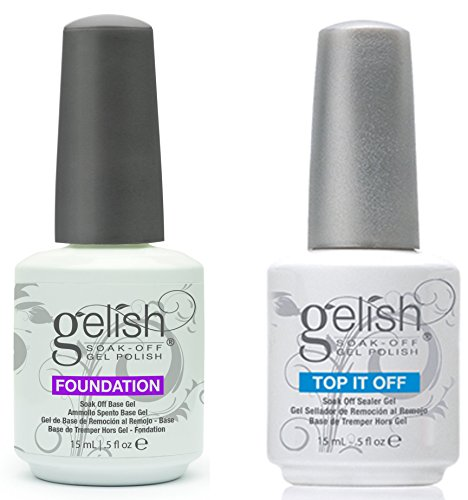 Gelish Top + Base Foundation Gel Soak off Gel Polish 15ml 0.5oz each