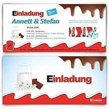 Hochzeitseinladungen (10 Stück)   Schokolade Für Kinder U2013 Einladungskarten  Zur Hochzeit