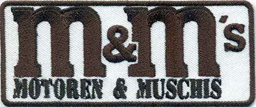 Preisvergleich Produktbild M&M M und M`s Motoren und Muschis Motorrad Biker Aufnäher Patch Aufbügler